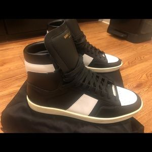 455b22d7bf YSL Court Classic Leather High Top Sneaker